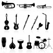 Stock Vector: Musical instrument icons,easy to edit or re size