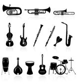 Musical instrument icons,easy to edit or re size — Stock Vector