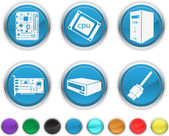 Computer components,each color icon is set on a different layer — Stock Vector