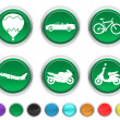 Stock Vector: Transport icons,each color icons is set on different layer
