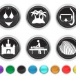 Vacation icons,each color icon is set on a different layer — Stock Vector #8731297