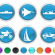 Stock Vector: Transport icons,each color icons is set on a different layer