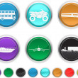 Transport icons,each color icons is set on a different layer — Stock Vector