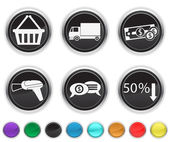 Commerce icons — Stock Vector