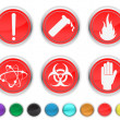 Stock Vector: Danger icons,each color icons is set on different layer