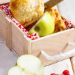 Apple and cherry pies — Stock Photo