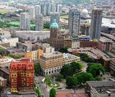 Downtown Vancouver Aerial View in British Columbia, Canada — Stock Photo