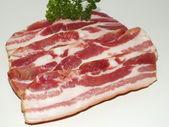 Smoked pork belly, bacon — Stock Photo