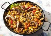 Paella rice — Stock Photo