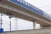 Ve demiryolu köprüsü — Stok fotoğraf