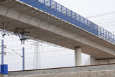And rail bridge — Stock Photo