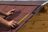 Construction of a roof — Stock Photo