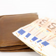 Wallet with cash — Foto Stock