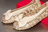 Bílé boty — Stock fotografie