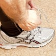 Tying shoe — Stock Photo #9942964