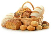 Composition with bread and rolls — Stock Photo