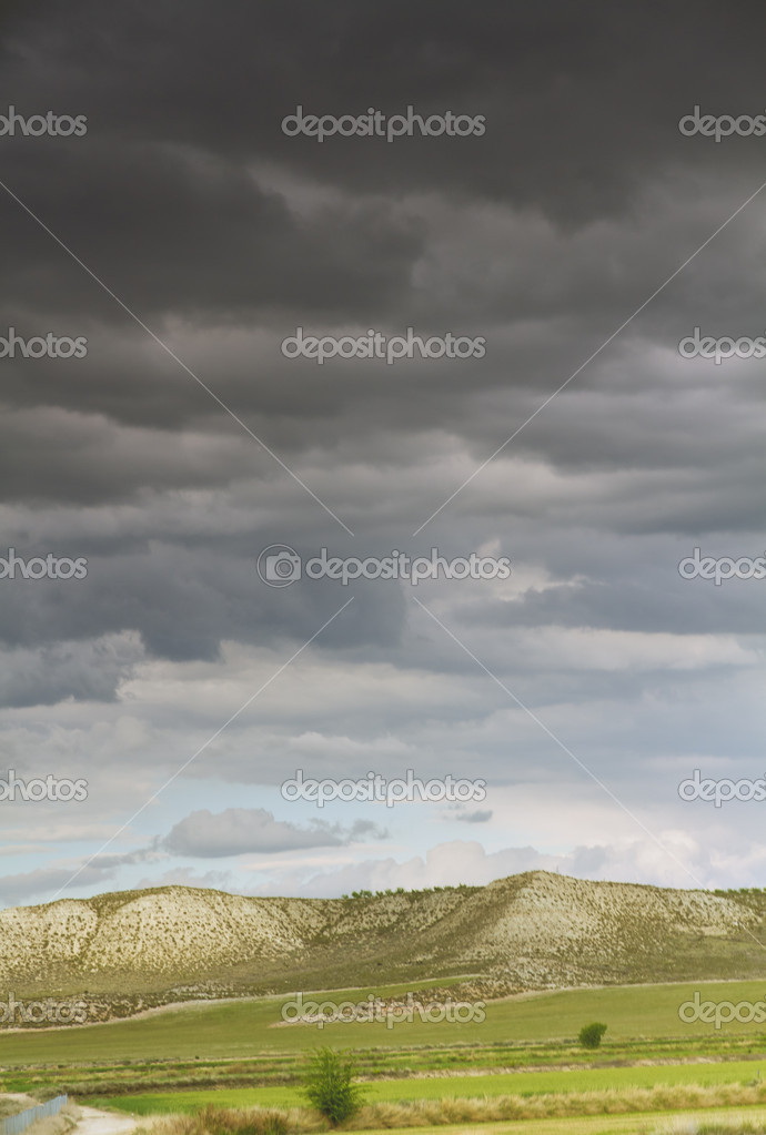 Los Monegros, desert region between Aragon and Catalunya, Spain — Stock Photo #10383406