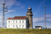 Beautiful lighthouse in Asturias in northern Spain Bay of Biscay — Stock Photo
