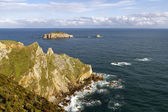 Rocks at the coast of north of Asturias, Spain. — Foto Stock