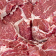 Raw casserole beef steak - Stock Photo