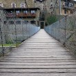 Rupit , suspension bridge - Stock Photo