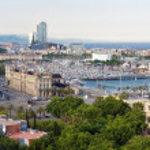 Panorama der spanischen Stadt barcelona — Stockfoto