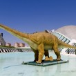 Mechanical dinosaur The City of Arts and Sciences Valencia, Spain — Stock Photo