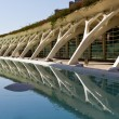 Design of columns The City of Arts and Sciences Valencia, Spain — Stock Photo