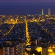 Night panorama of the city of Barcelona Spain — Stock Photo #8268505