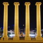 Columns on the Placa De Espanya — Stock Photo