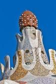 Detail of the main entrance building at Parc Guell, — Stock Photo