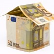 House made of euro money — Stock Photo #9027288