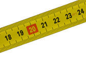 Tape measure, detail from 18 to 24 centimeters — Stock Photo