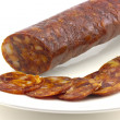 Iberian chorizo — Stock Photo