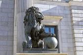 Lion of the Congreso de los diputados — Stock Photo