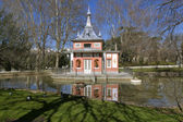 Glorieta de Sevilla in the Buen Retiro Park Madrid, Spain. — Stock Photo