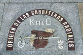 Kilometre zero point in Puerta del Sol, Madrid, Spain — Stock Photo