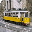 Yellow Lisbon tram 28 — Stock Photo