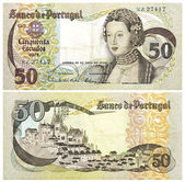 50 bill old gold crowns of Portugal — Stock Photo