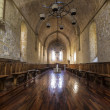Stock Photo: Monastery of SantMaride Poblet dining room