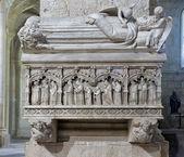 Monastero di santa maria de poblet tomba reale — Foto Stock