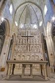 Monastery of Santa Maria de Poblet high altar — Stock Photo