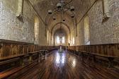 Monastery of Santa Maria de Poblet dining room — Stock Photo