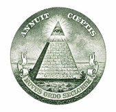 Dollar pyramid — Stock Photo