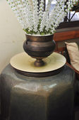 Vintage style flower holder jar — Stockfoto