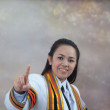 Asian thai attractive Graduate female student - Stock Photo
