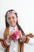 Asijské thajské atraktivní postgraduální studentka — Stock fotografie