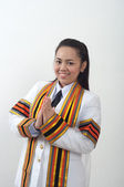 Student azji, tajski, atrakcyjne, absolwent i kobiece — Zdjęcie stockowe