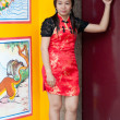 Happy Chinese new year - beautiful young Asiwoman — Stock Photo #8645581