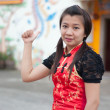 Happy Chinese new year - beautiful young Asian woman — Stock Photo